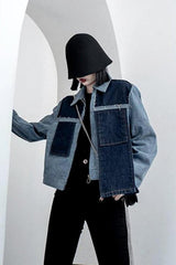 Seoul Colourblock Hooded Coat