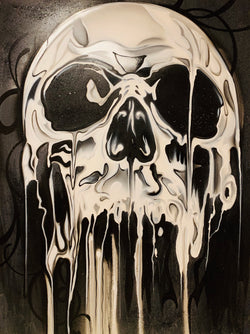 Death Original Painting (Acrylic on Canvas) 36x46