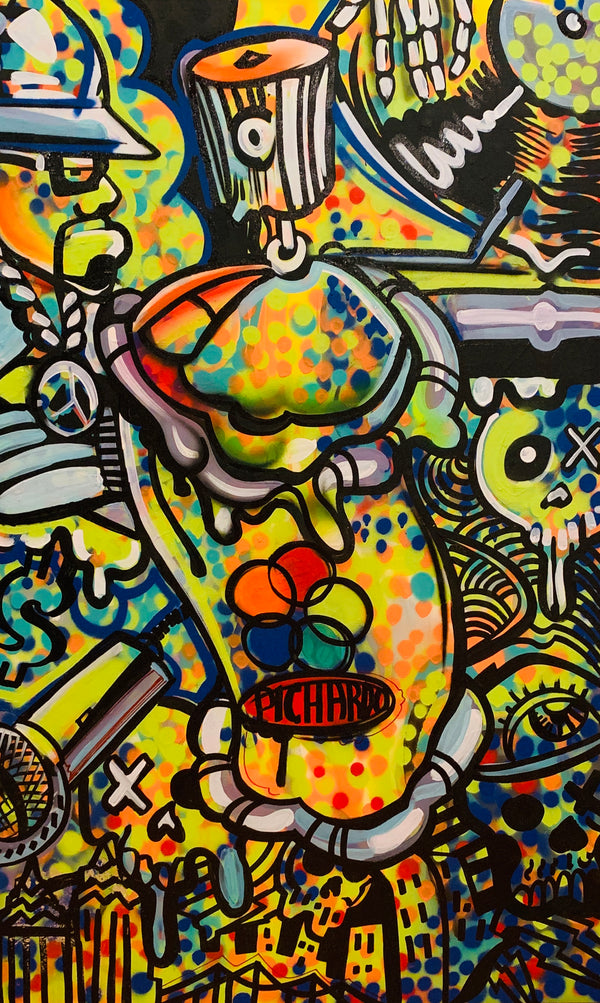 In the Beginning ORIGINAL PAINTING (Acrylic on Canvas) 30x48
