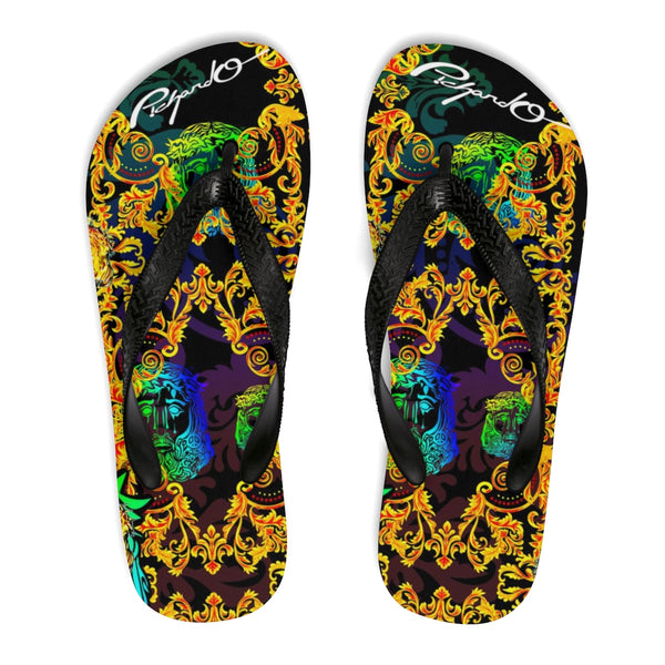 Verano Luxe Flip-Flops Blue and Gold (Men's)