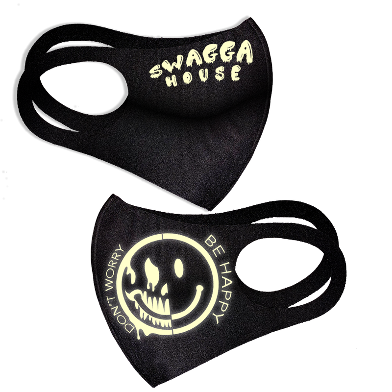 DON'T WORRY BE HAPPY MASK (FREE SHIPPING) GLOW IN THE DARK