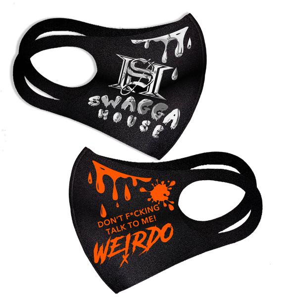 ORANGE & SILVER MASK ( FREE SHIPPING)