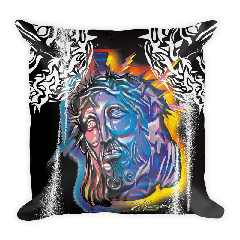 Blue Jesus Piece Premium Pillow