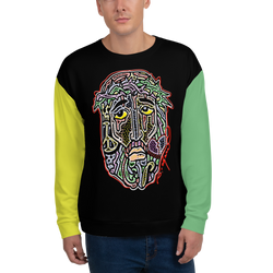 Jesus face art Unisex Sweatshirt