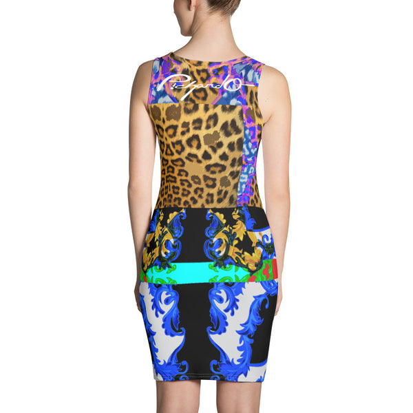 Verano Luxe Dress Blue, Leopard and Floral (Women's)
