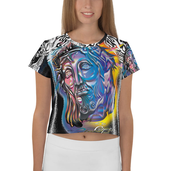 Women's Full Print Crop-Top Tee Jesus Piece