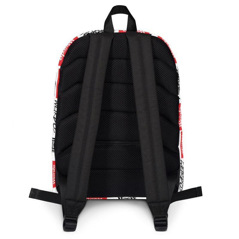 F*cking Weirdo Backpack Red Branding