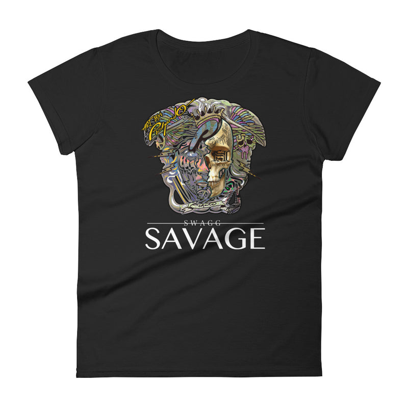 Women's Pichardo Shirt Swagg Savage Half Skull (More Colors Available)
