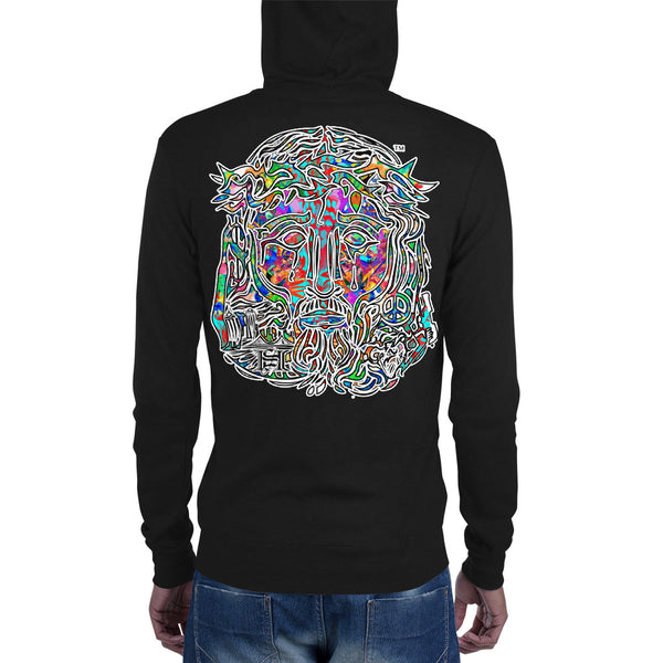 Pichardo Zip Hoodie Multi- Colored Jesus Face