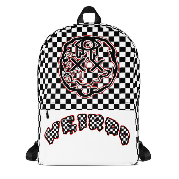 F*cking Weirdo Backpack Full Face w/ Checkerboard