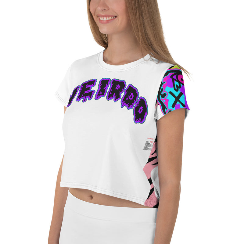 F*cking Weirdos Crop-Top Tee Purple Neon Face (Women's)