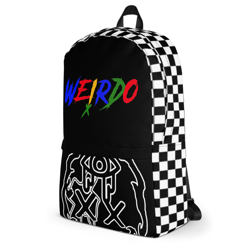 Black And Checkerboard Weirdo Backpack