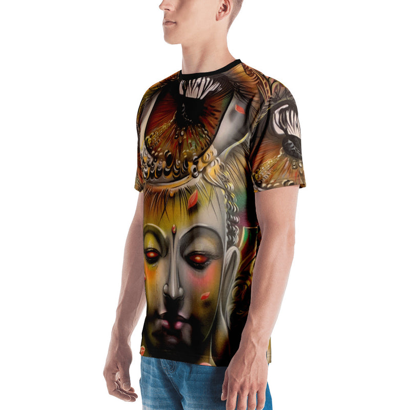 All Over Mayan Goddess Print T-Shirt