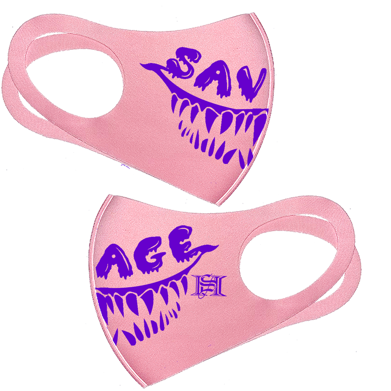 savage smile pink mask (free shipping) multiple colors available