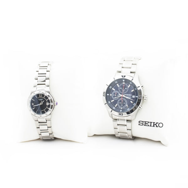 Seiko SKS407 Men's Chronograph Analog Watch and Casio Sheen SHE-4500D-1AEF - Combo
