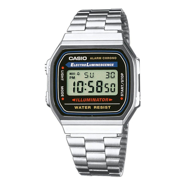 Casio Men's A168W-1WCR Stainless Steel Watch