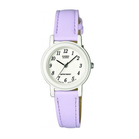 Casio LQ139L-6BEF Lilac Analog Leather Watch - www.hirawatch.com - 1