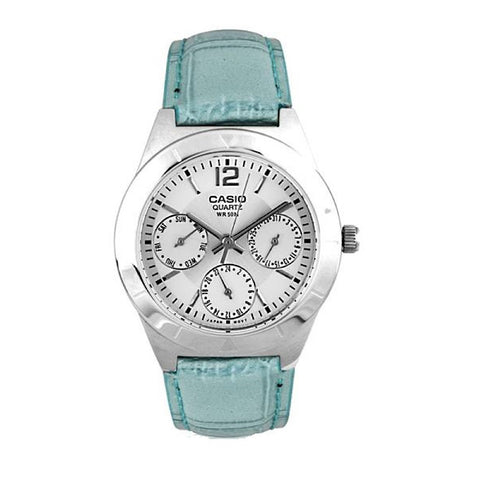 Casio Enticer LTP-2069L-7A2VDF Analog Leather Watch - www.hirawatch.com - 1