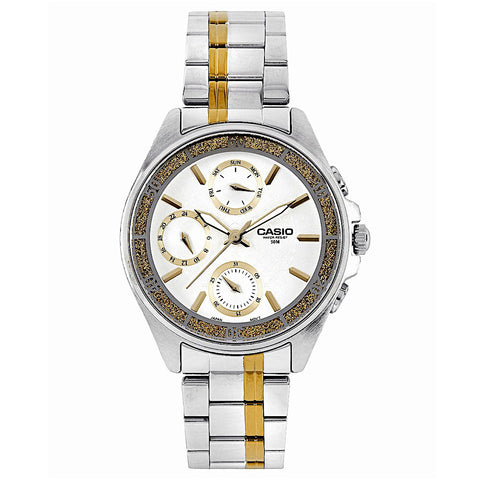 Steel Watch for women | Casio Enticer LTP-2086SG-7AVDF Multifunction - www.hirawatch.com - 1