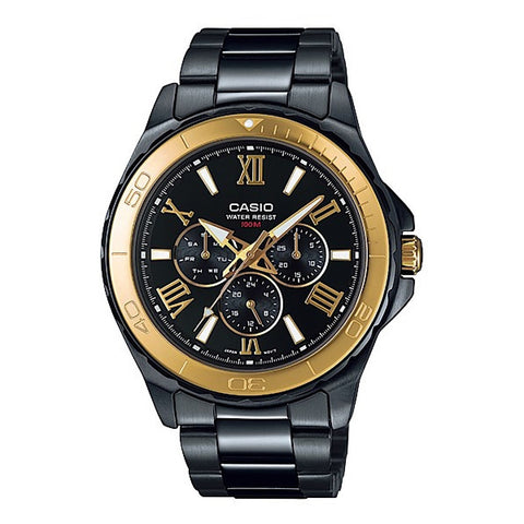 Casio Enticer MTD1075BK-1A Multifunction Steel Watch - www.hirawatch.com - 1