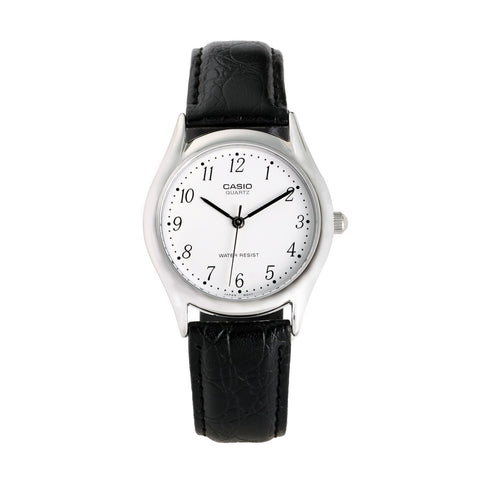 Black Leather Watch For Men | Analog |Casio Core MTP-1094E-7BDF - www.hirawatch.com - 1