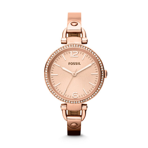 Fossil Georgia ES3226 Women's Rose Gold Watch - www.hirawatch.com - 1