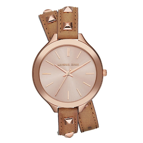 Michael Kors Runway MK2299 Leather Watch - www.hirawatch.com - 1