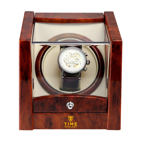 Time Tutelary KA079-BURL Single Watch Winder - www.hirawatch.com - 1