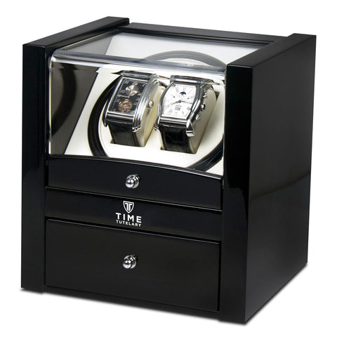 Time Tutelary KA018BK Glossy Black Dual Watch Winder - www.hirawatch.com - 1