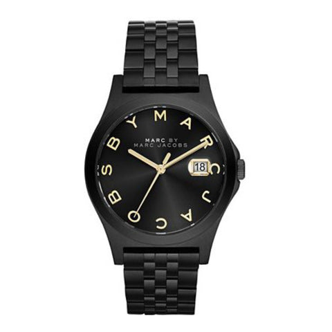 Henry Slim Black Dial Black Ion-plated Ladies Watch