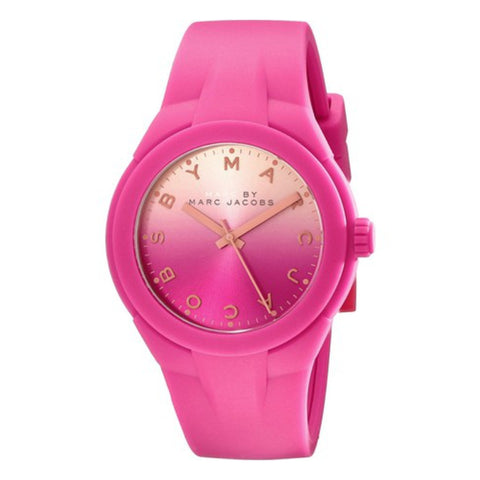 MARC JACOBS MBM5538 LADIES PINK RUBBER 37MM STAINLESS STEEL CASE QUARTZ WATCH