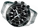 PT3307X1 Pulsar Mens Gents Chronograph 100m Water Resistant Stainless Steel Bracelet Watch