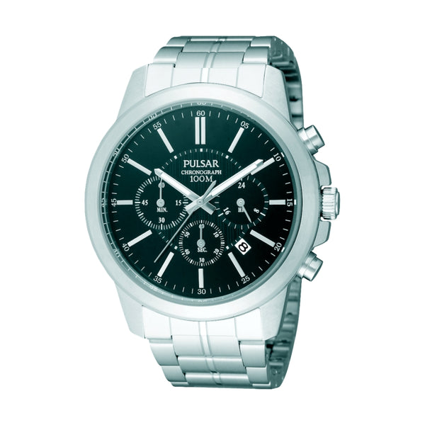 Pulsar PT3485X1 Men's Silver Chronograph Watch