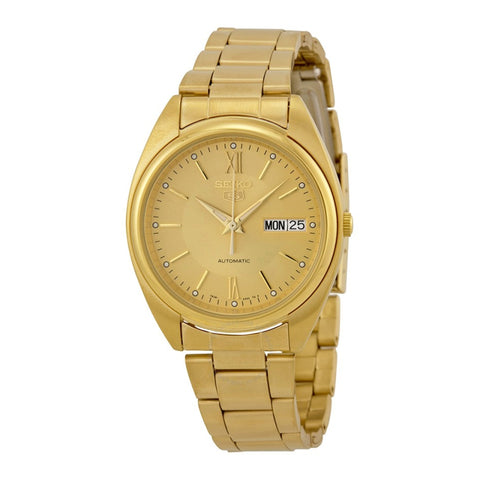 Automatic Champagne Dial Gold-tone Men's Watch- SNXA22