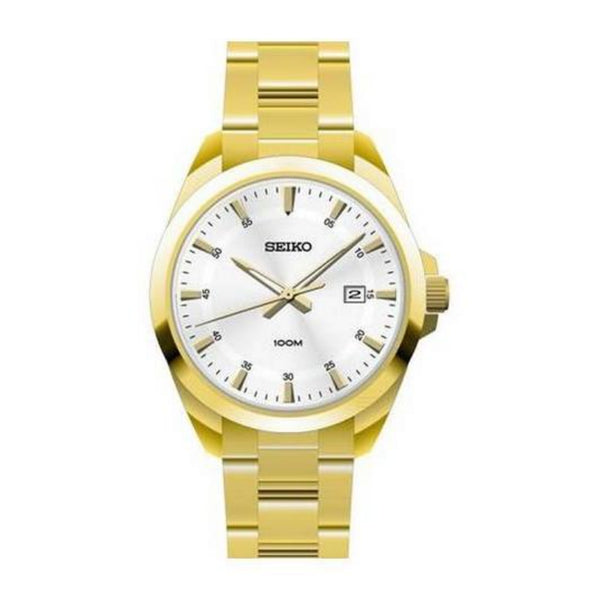 Seiko Men's SUR212P1 Gold-Tone Stainless Steel Watch