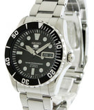 Seiko 5 Black Dial Stainless Steel Automatic Mens Watch SNZF17K1