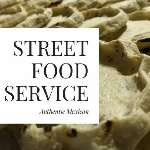 street food service authentic mexican stall