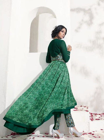 8011 Green Anarkali Gown