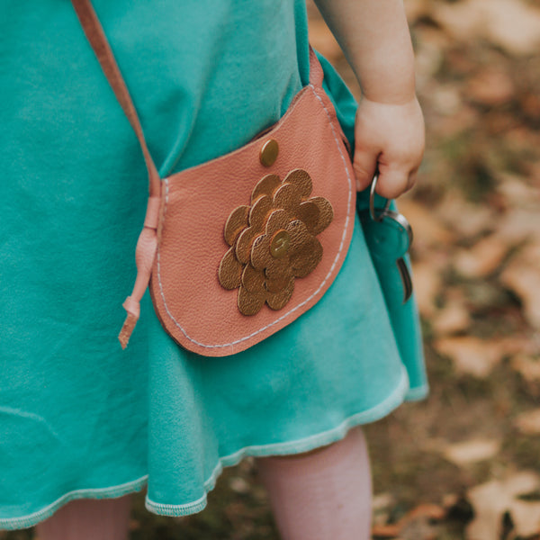 Spring Blossom Leather Purse