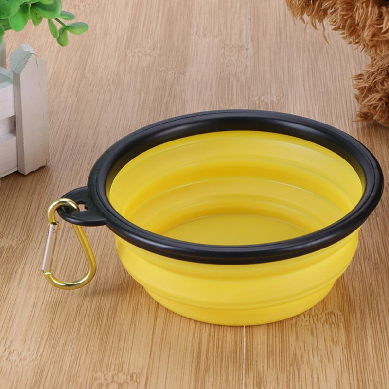 Bowls for Dog Folding Collapsible Feeding Bowl Silicone Water Dish Portable Feeder Puppy Pet Travel Bowls Free shipping