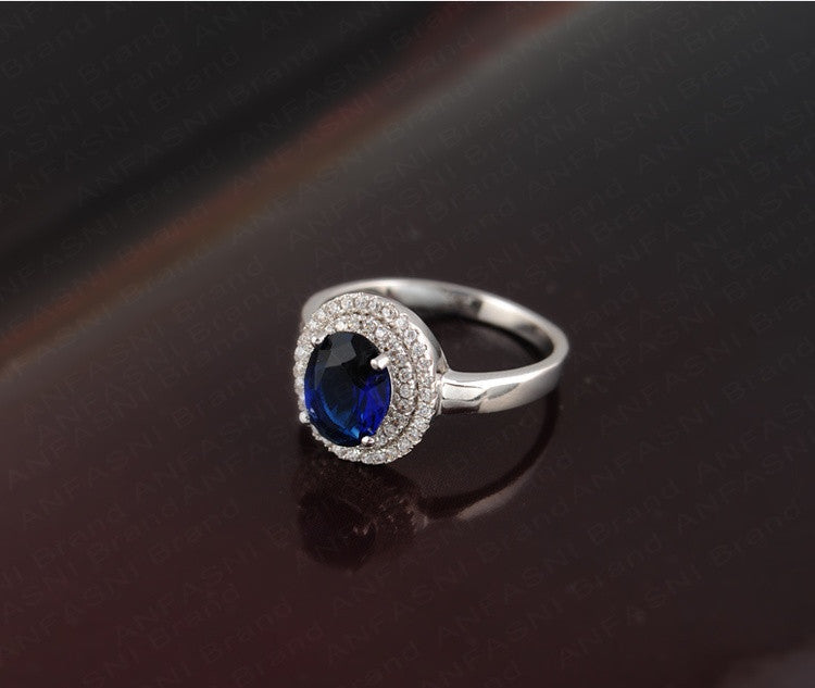 Latest Style Trendy Ring Platinum Plated Micro Pave