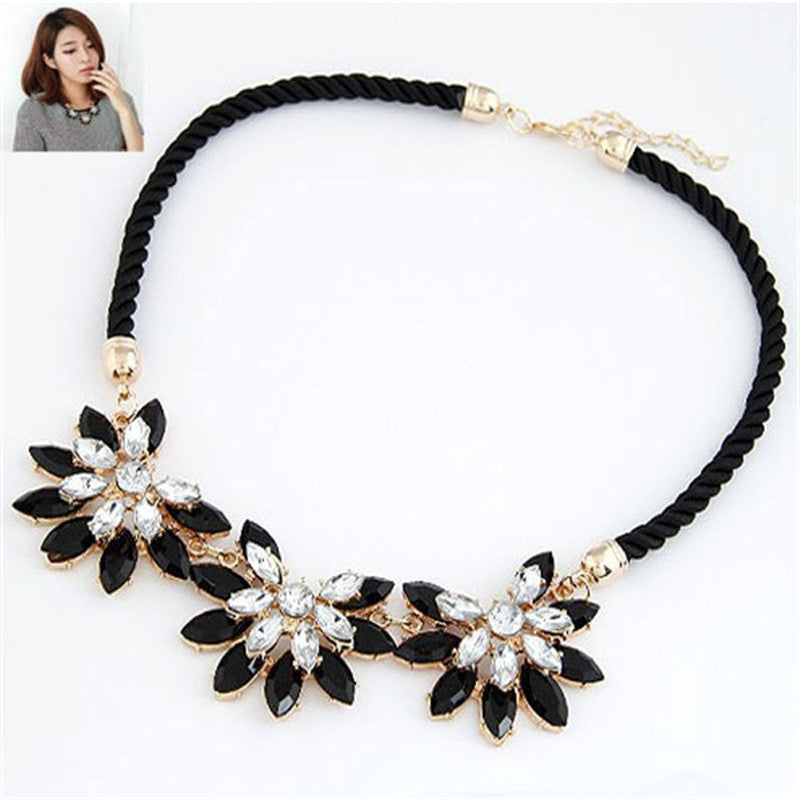 Rhinestone Necklace New Brand Style Crystal Collier