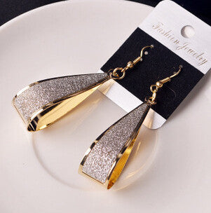 Summer Style Retro Matte Actress Wild Scrub  Earrings