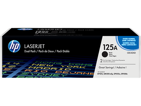 HP 125A 2-pack Black Original LaserJet Toner Cartridges