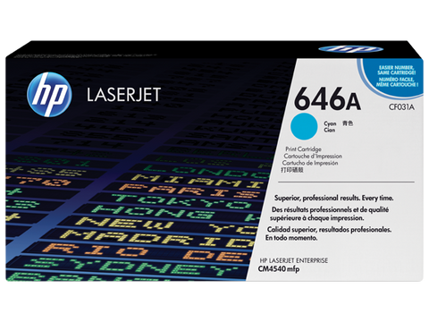 HP 646A Cyan Original LaserJet Toner Cartridge
