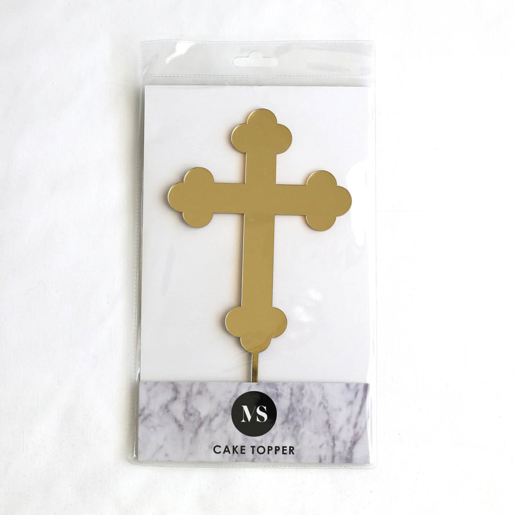 Orthodox Cross Cake Topper