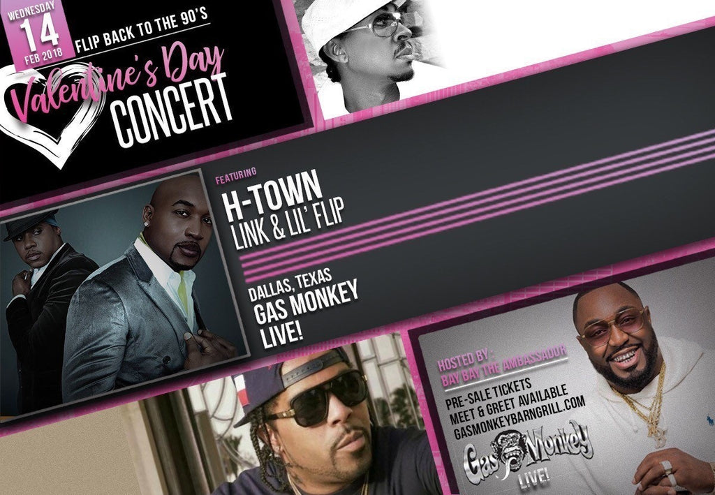 Flip Back to the 90's V-Day Concert Feat. H-Town at Gas Monkey Live!