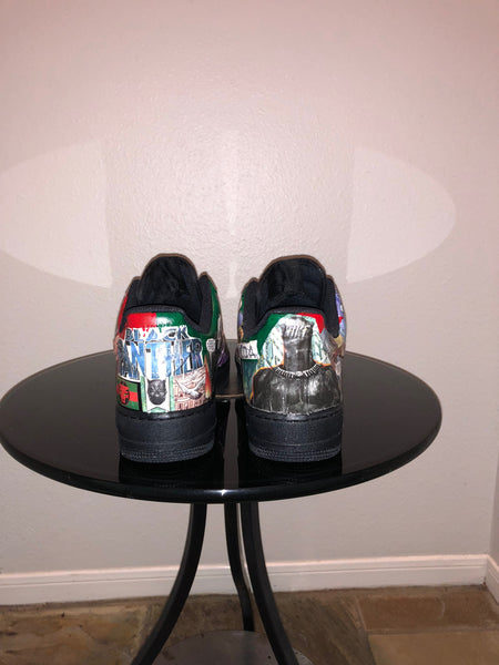 "HAND PAINTED ""BLACK PANTHER"" SHOES BY LIL' FLIP"
