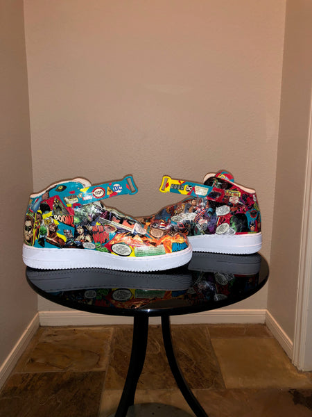 "HAND PAINTED ""MARVEL COMICS"" SHOES BY LIL' FLIP"