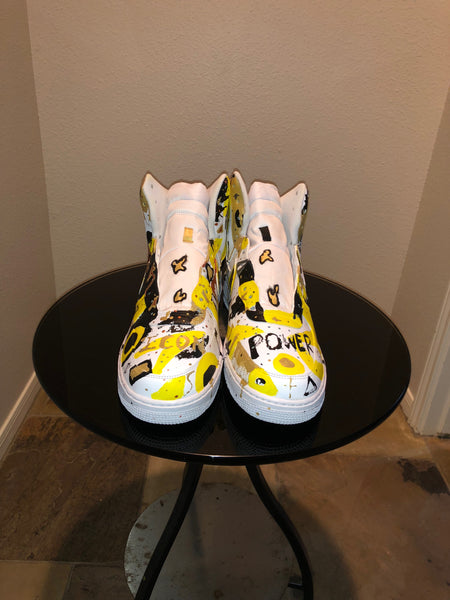 "HAND PAINTED ""POWER"" SHOES BY LIL' FLIP"